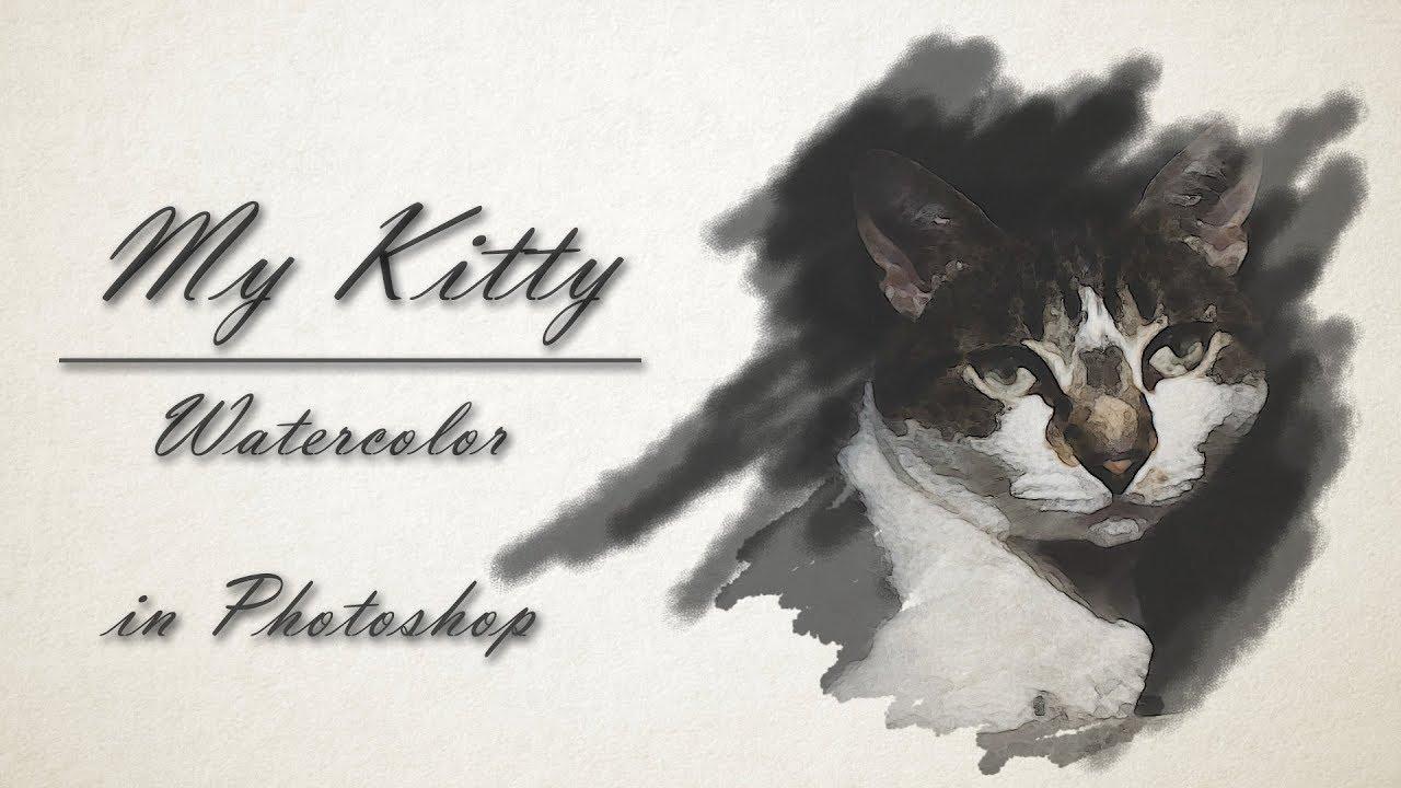 kitty en acuarela
