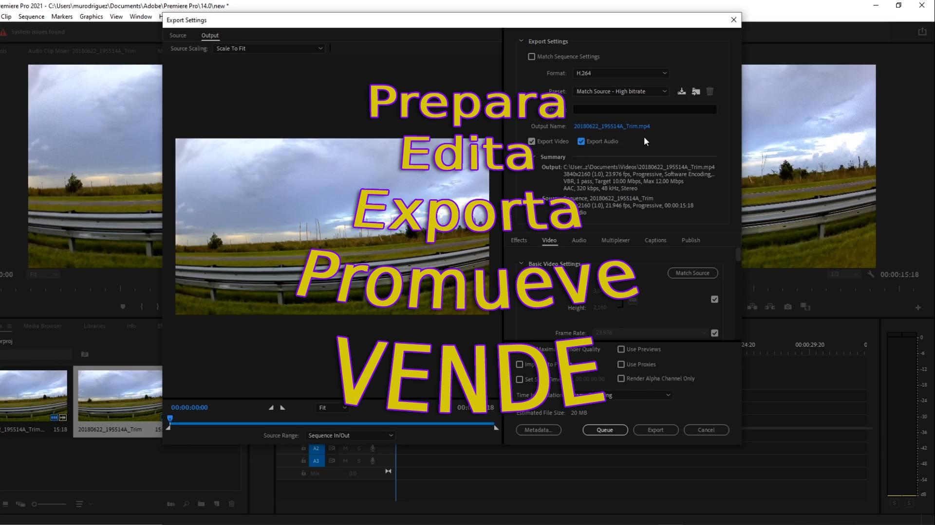 exportar video
